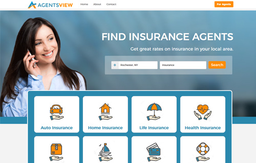 AgentsView Website Screenshot