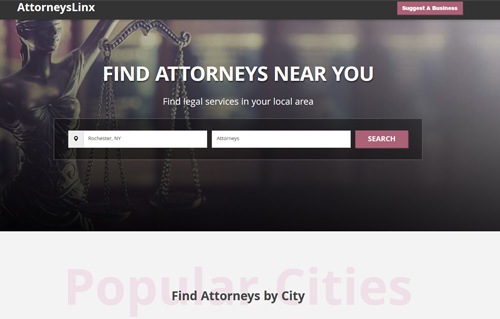 AttorneyLinx Website Screenshot