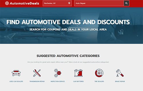 Automotivedeals website screenshot