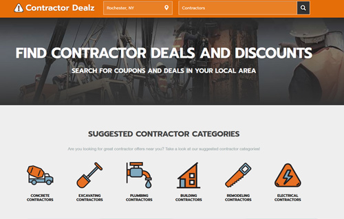ContractorDealz Website Screenshot