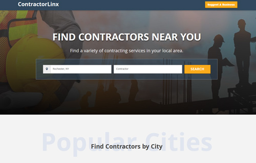 ContractorLinx Website Screenshot