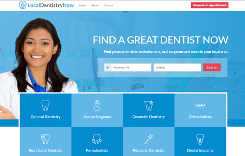 LocalDentistryNow Website Screenshot