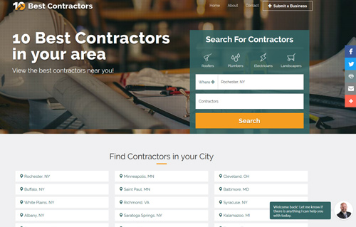 10 Best Contractors Website Screenshot