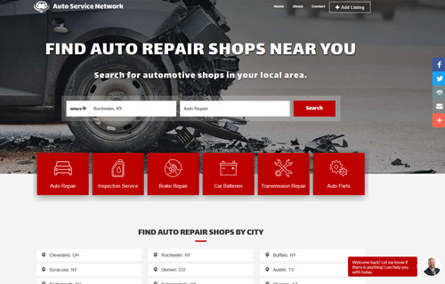 AutoServices Network Website Screenshot