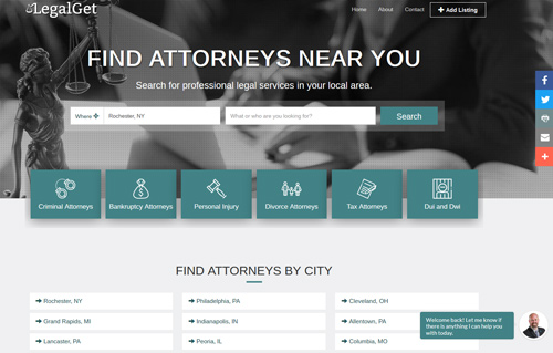 Legal Get Website Screenshot