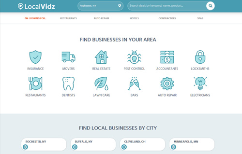 LocalVidz Website Screenshot