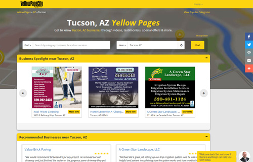 YellowPageCity Website Screenshot